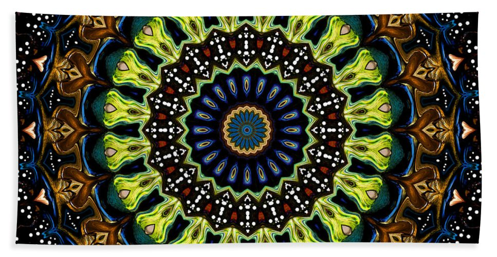 Digital Hand Towel featuring the digital art Dotted Wishes No. 3 Kaleidoscope by Joy McKenzie