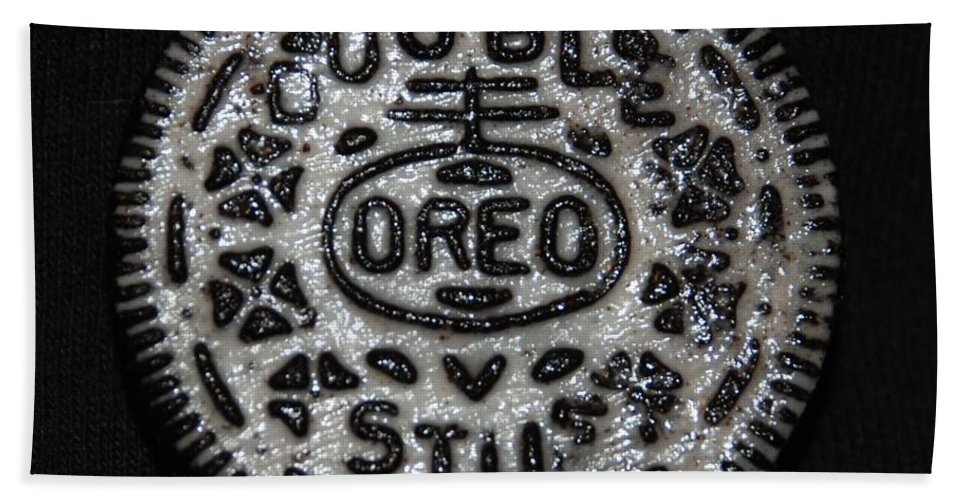 Oreo Hand Towel featuring the photograph Double Stuff Oreo by Rob Hans