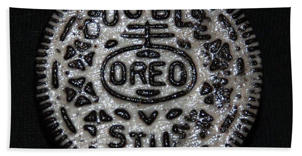 Oreo Bath Towel featuring the photograph Double Stuff Oreo by Rob Hans