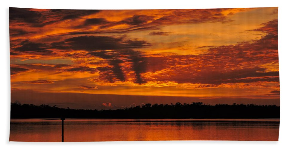 Sunset Bath Sheet featuring the photograph Double Vision by Marilee Noland