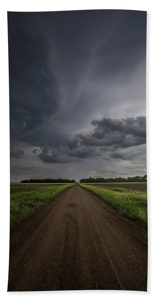 Gravel Road Bath Towel featuring the photograph Down A Little Dirt Road by Aaron J Groen