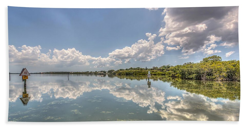 Florida Bath Sheet featuring the photograph Down The Bay by Jane Luxton