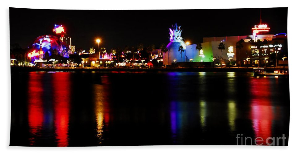 Downtown Disney Hand Towel featuring the photograph Downtown Disney by David Lee Thompson