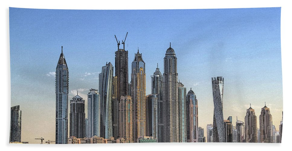City Bath Towel featuring the digital art Downtown Dubai by Sandeep Gangadharan
