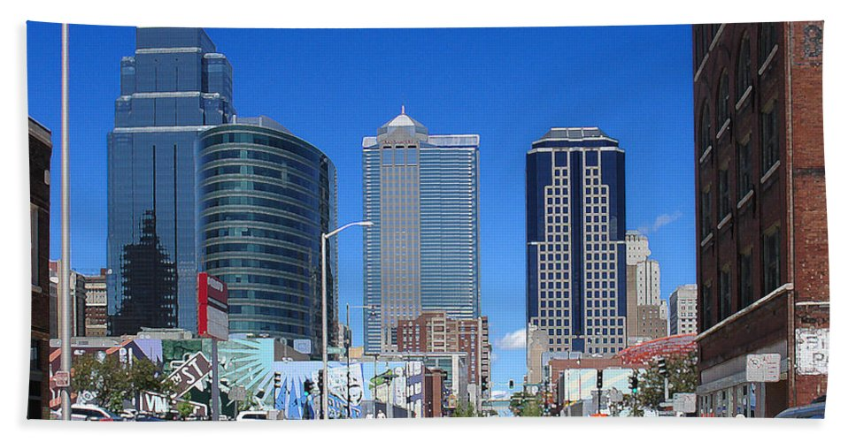 City Hand Towel featuring the photograph Downtown Kansas City by Steve Karol