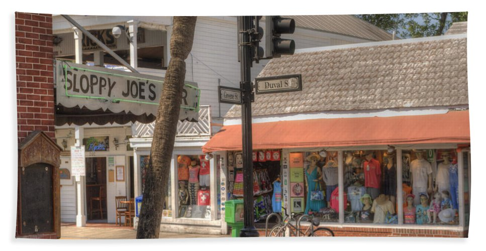 America Bath Towel featuring the photograph Downtown Key West by Juli Scalzi