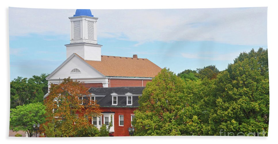 Black And White Photography Hand Towel featuring the photograph Downtown Salem Ma by Brittany Horton