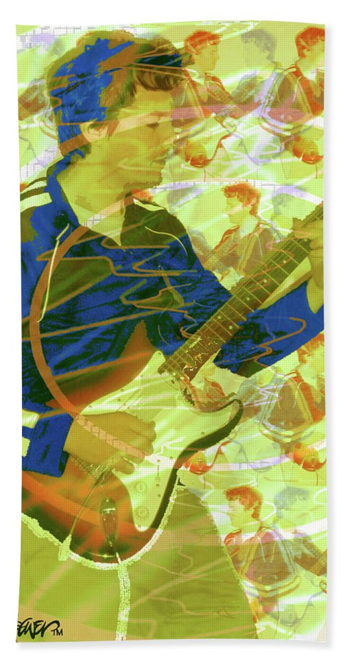 Dr. Guitar Hand Towel featuring the photograph Dr. Guitar by Seth Weaver