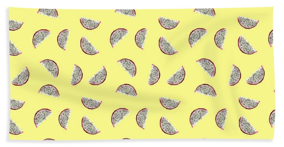 Fruit Hand Towel featuring the digital art Dragonfruit by Bunhugger Design