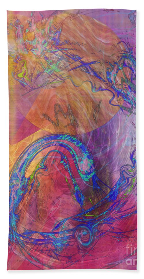 Dragon's Tale Hand Towel featuring the digital art Dragon's Tale by John Beck