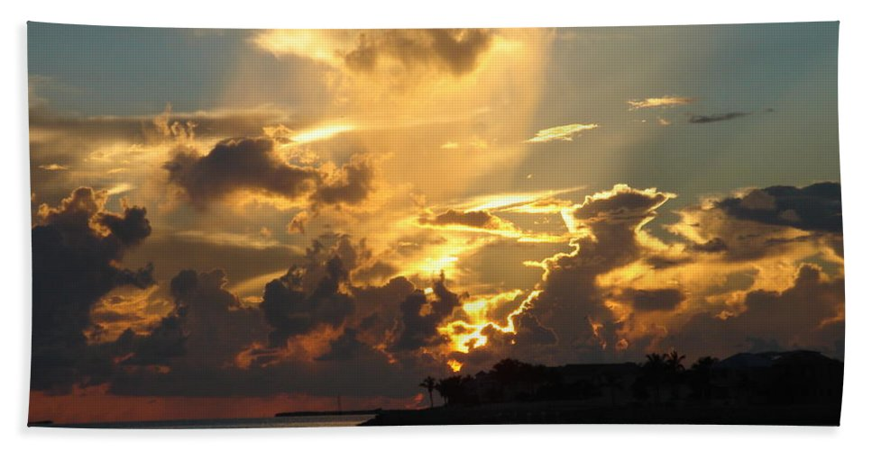 Photography Bath Sheet featuring the photograph Dramatic Clouds by Susanne Van Hulst
