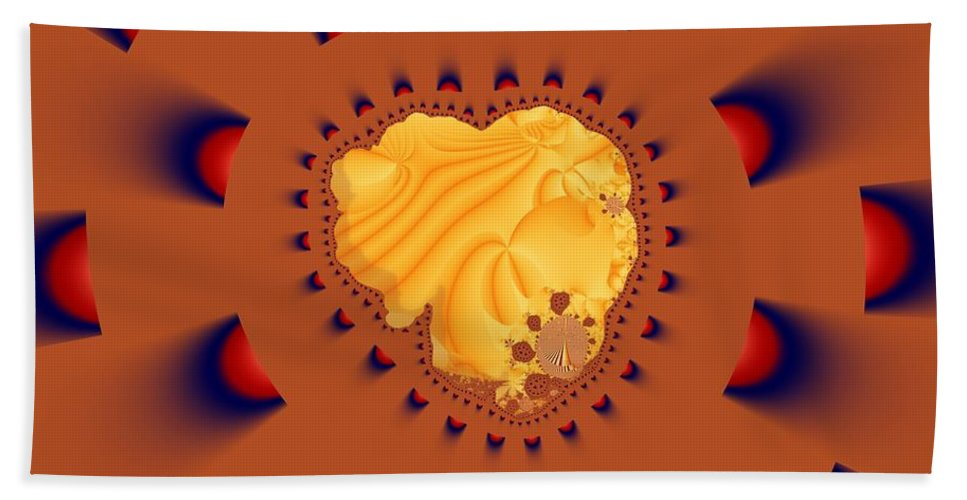 Fractal Art Bath Towel featuring the digital art Drawn To The Light by Ron Bissett