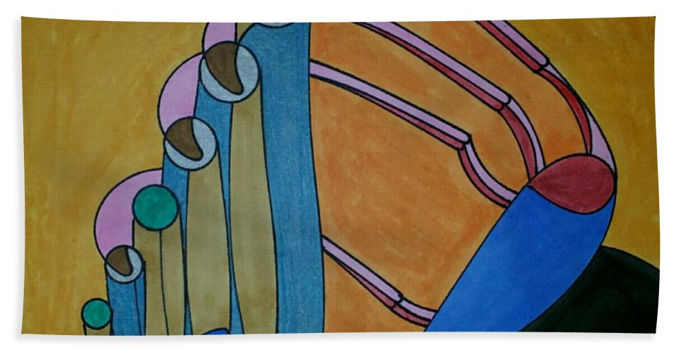 Geometric Art Hand Towel featuring the glass art Dream 187 by S S-ray