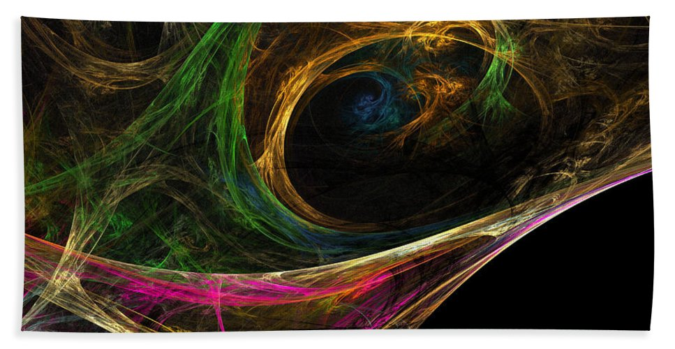 Bath Sheet featuring the digital art Dream Channel by Deborah Benoit