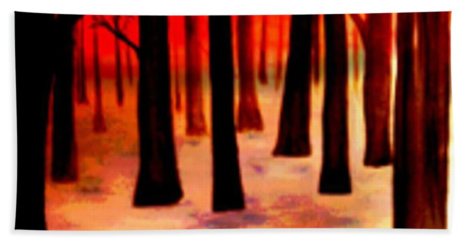 Trees Hand Towel featuring the digital art Dream Forest by Klaus Engels