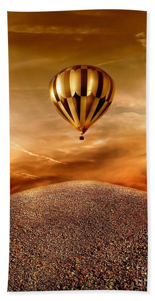 Golden Bath Towel featuring the photograph Dream by Jacky Gerritsen