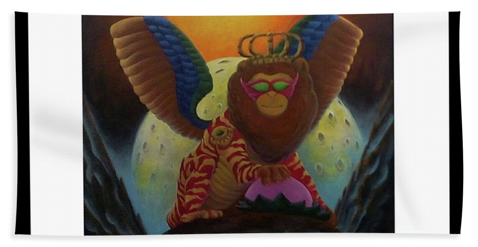 Surrealism. ... Hand Towel featuring the painting Dream by ROhit Ramanuj