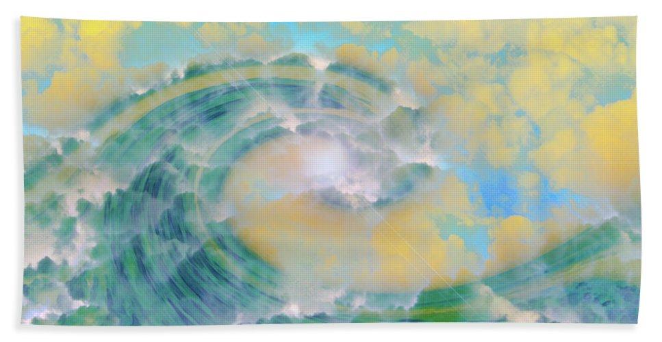 Wave Art Bath Sheet featuring the digital art Dream Wave by Linda Sannuti