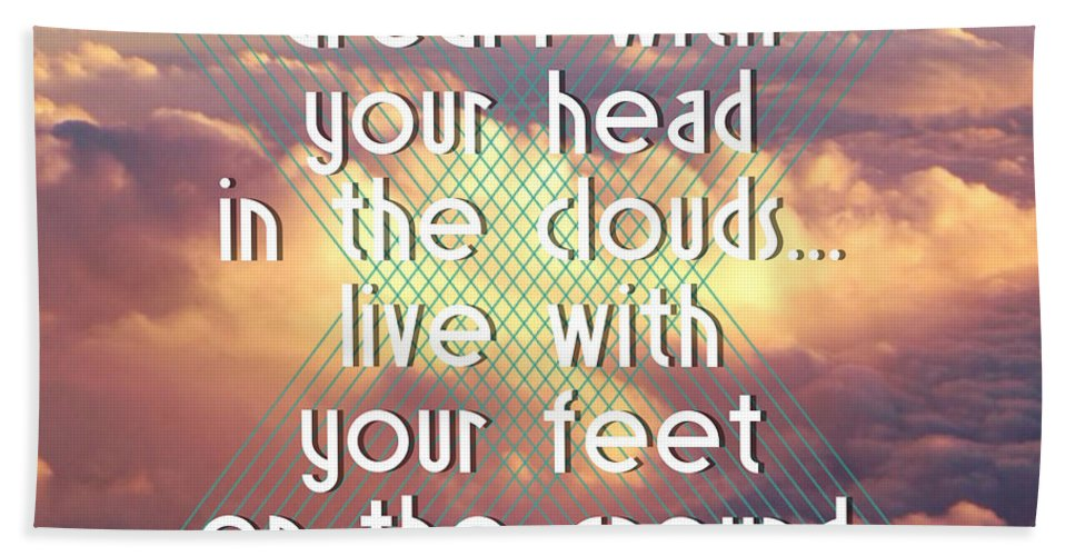 Brandi Fitzgerald Hand Towel featuring the digital art Dream With Your Head In The Clouds by Brandi Fitzgerald