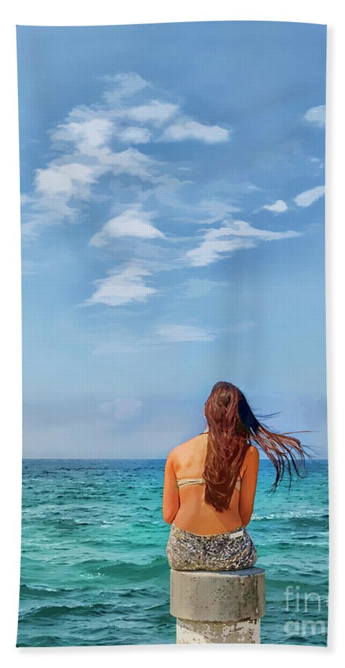 Painterly Hand Towel featuring the photograph Dreaming Of Summer by Norman Gabitzsch