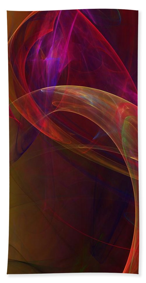Fine Art Bath Sheet featuring the digital art Dreams Of Fish And Other Things by David Lane