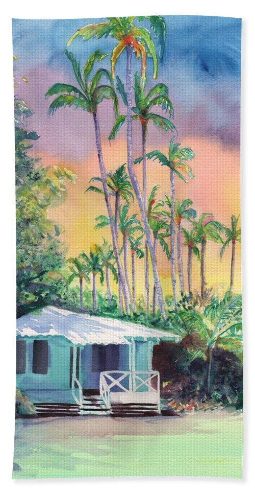 Cottages Hand Towel featuring the painting Dreams Of Kauai by Marionette Taboniar