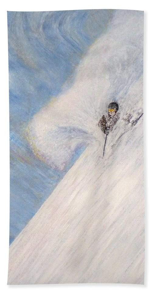 Landscape Hand Towel featuring the painting Dreamsareal by Michael Cuozzo