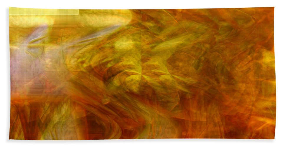 Abstract Art Bath Sheet featuring the digital art Dreamstate by Linda Sannuti
