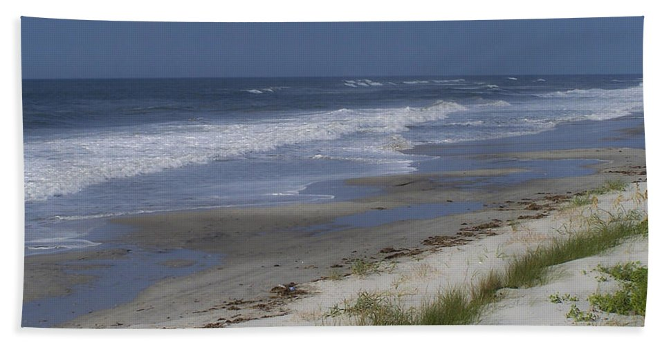 Ocean Hand Towel featuring the photograph Dreamy Beach In North Carolina by Teresa Mucha