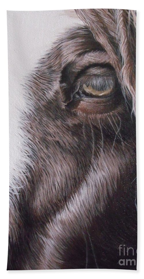 Portrait Bath Towel featuring the painting Dreamy Listowel Fair by Pauline Sharp