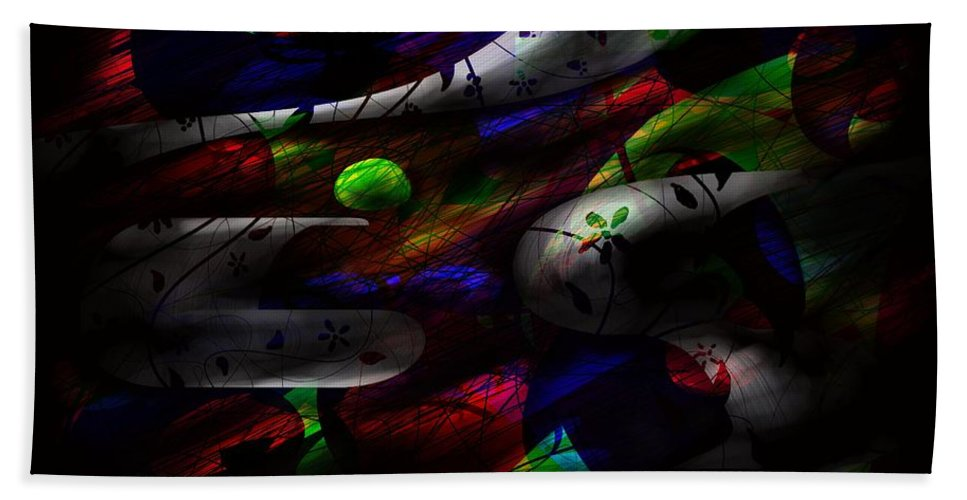 Abstract Hand Towel featuring the digital art Dreamy by Rachel Christine Nowicki