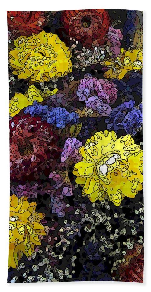 Abstract Hand Towel featuring the digital art Dried Delight 3 by Tim Allen