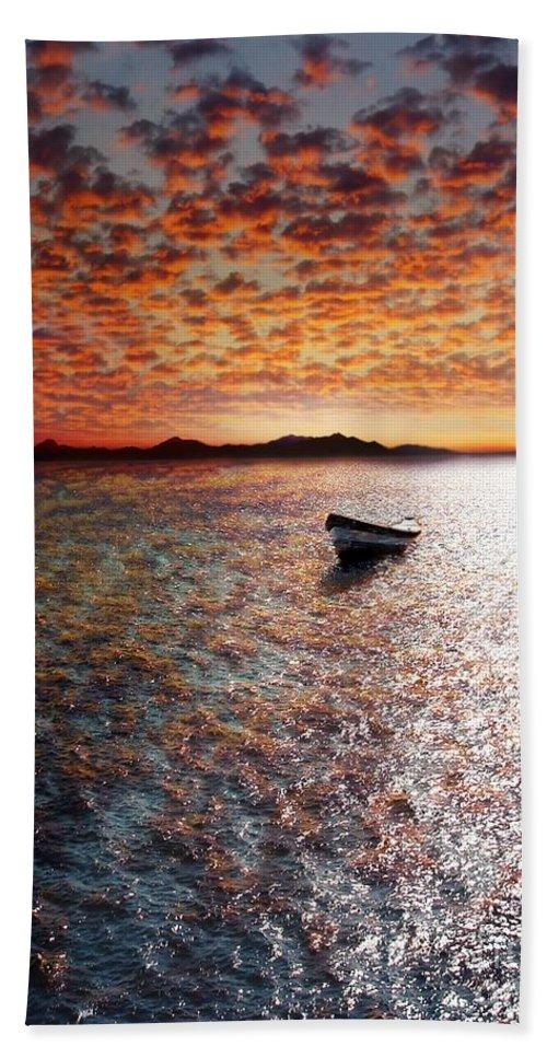 Ocean Hand Towel featuring the photograph Drift Away by Jacky Gerritsen