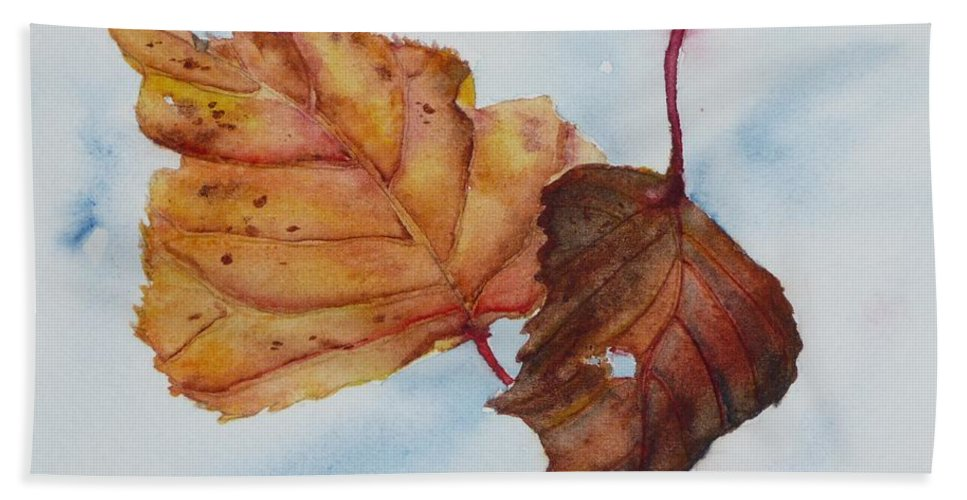 Fall Hand Towel featuring the painting Drifting by Ruth Kamenev