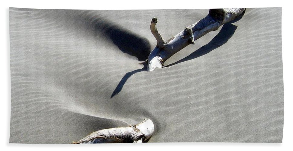 Driftwood Hand Towel featuring the photograph Drifting Sand by Will Borden