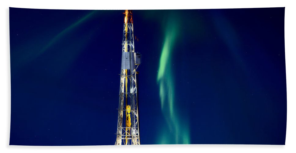 Platform Bath Sheet featuring the photograph Drilling Rig Potash Mine Canada by Mark Duffy