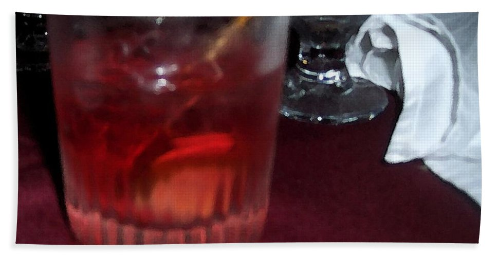 Drinks Bath Towel featuring the photograph Drink Up by Debbi Granruth