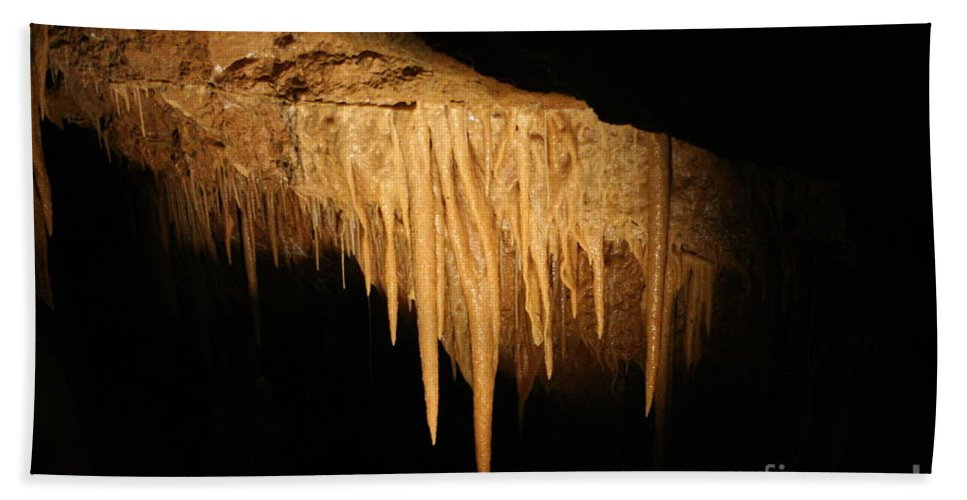 Natural Bath Sheet featuring the photograph Drips - Cave by Lynn Michelle
