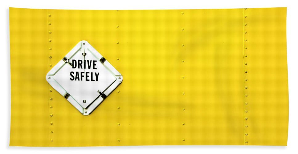 Bright Hand Towel featuring the photograph Drive Safely by Evelina Kremsdorf