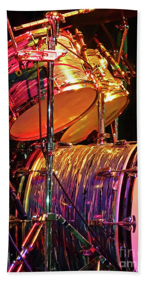 Drums Bath Sheet featuring the photograph Drum Set by Rich Walter