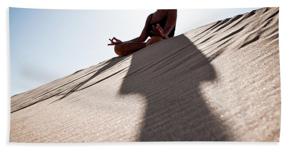 Yoga Bath Sheet featuring the photograph Dry Meditation by Scott Sawyer