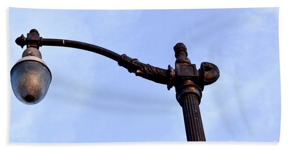 Dte Bath Sheet featuring the photograph Dte Lamp Post by Randy J Heath