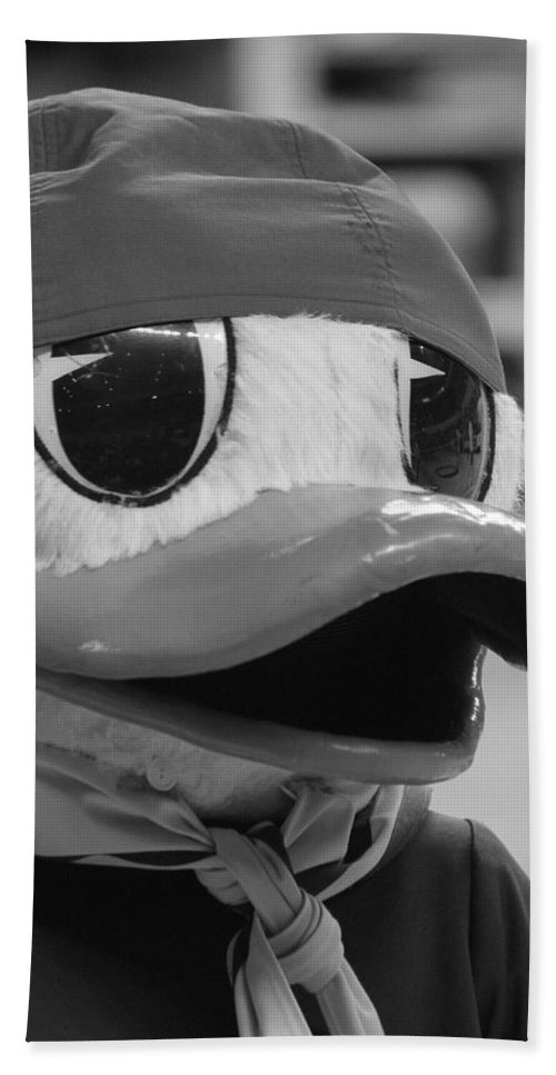 Duck Hand Towel featuring the photograph Ducking Around by Laddie Halupa