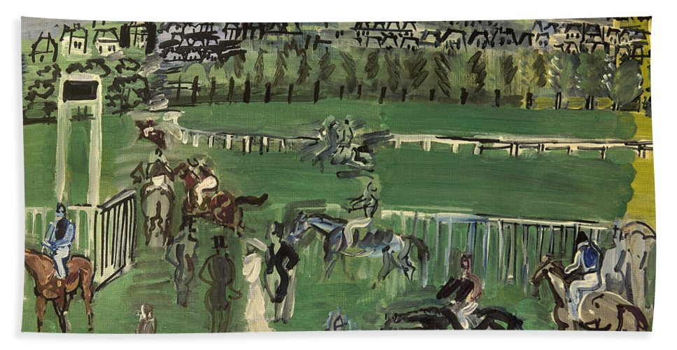 1928 Hand Towel featuring the photograph Dufy: Race Track, 1928 by Granger