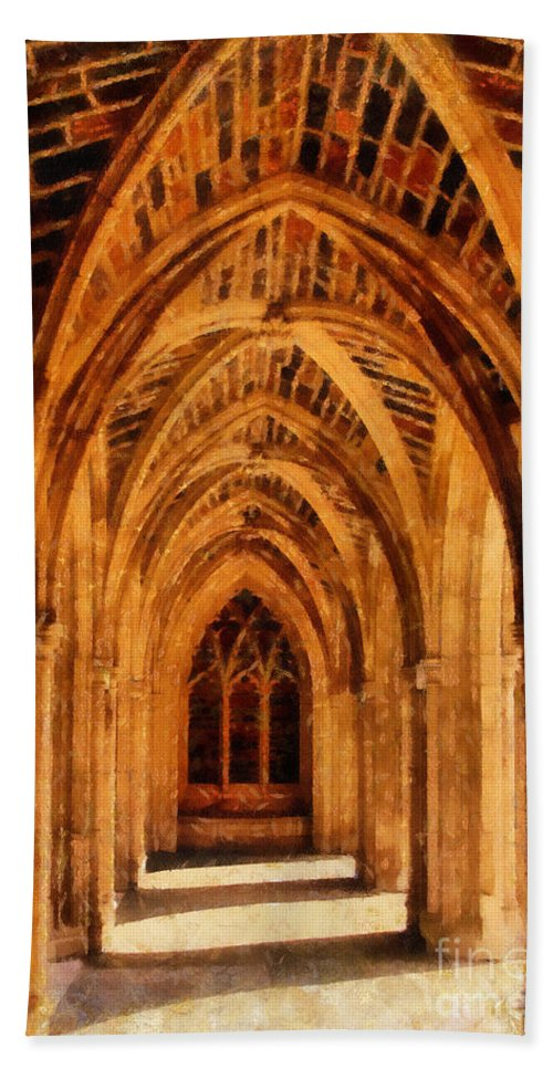 Duke University Hand Towel featuring the photograph Duke Chapel by Betsy Foster Breen