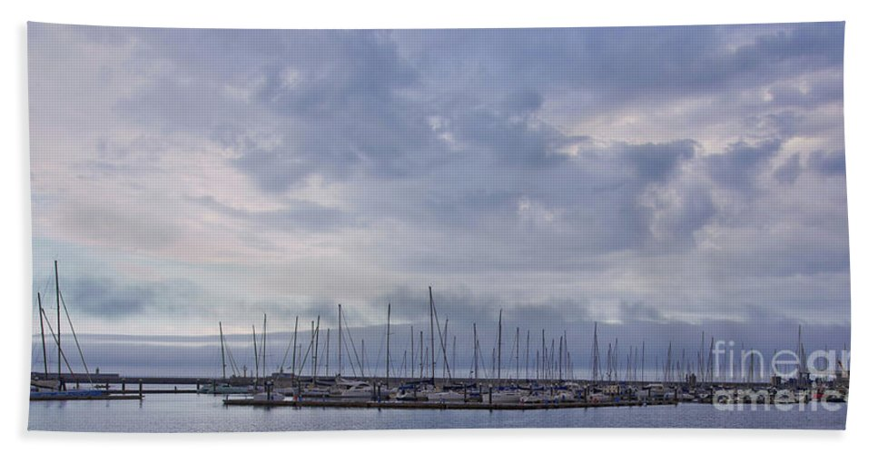 Dun Laoghaire Hand Towel featuring the photograph Dun Laoghaire 45 by Alex Art and Photo