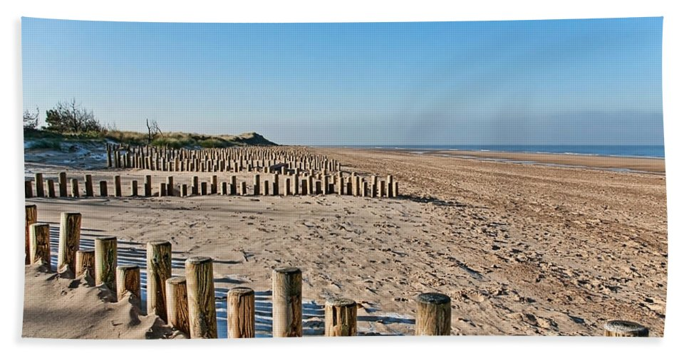 Norfolk Hand Towel featuring the photograph Dune Conservation Holme Dunes North Norfolk Uk by John Edwards
