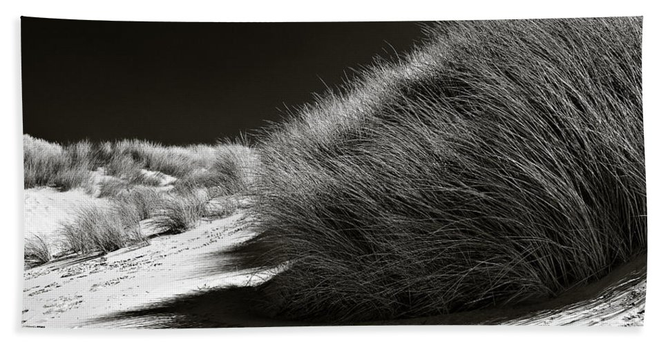 Dune Hand Towel featuring the photograph Dune Grass by Dave Bowman