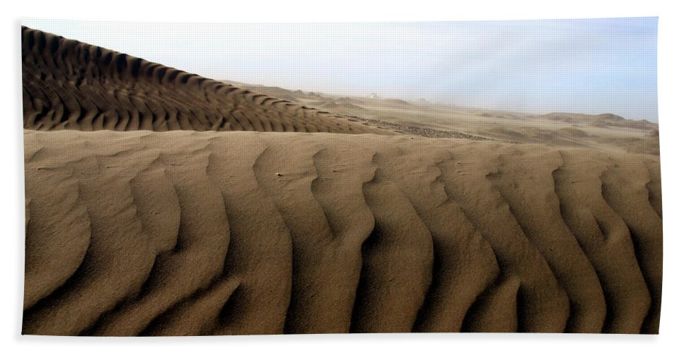 Sand Dunes Hand Towel featuring the photograph Dunes Of Alaska by Anthony Jones