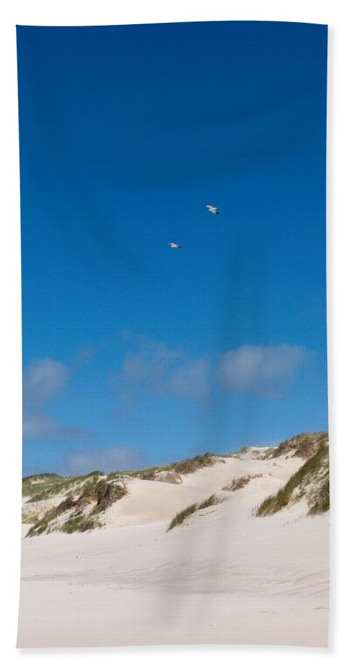 Lehtokukka Hand Towel featuring the photograph Dunes Of Danmark 1 by Jouko Lehto